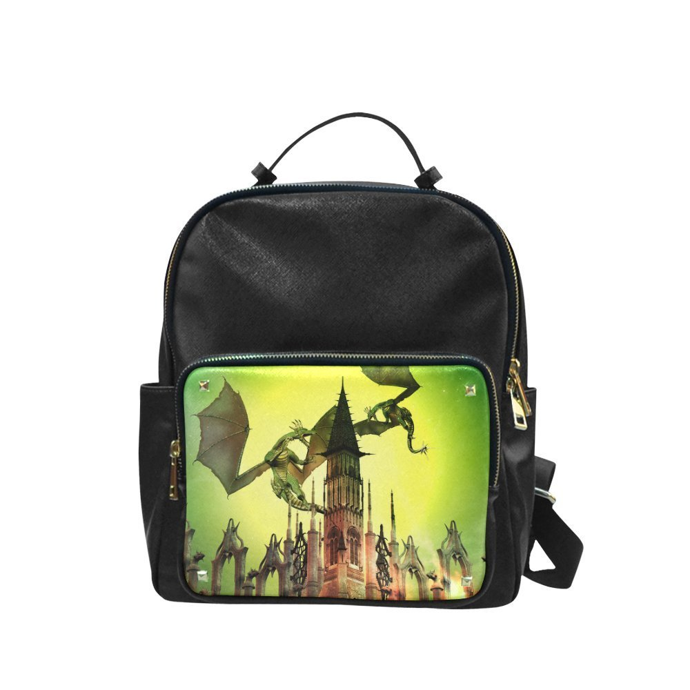 Get Quotations · Find Arts Custom Leisure Backpack Flying Dragons Leisure  Backpack Large c2183ba97d