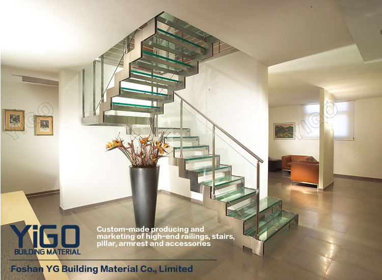 Aluminum Stair Stringers/wood Staircase Treads