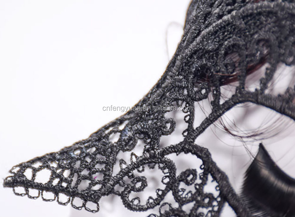 FY 1PC fashion Black Sexy Lady Lace Mask Eye Mask For Masquerade Party Fancy Dress Costume / Halloween Party Fancy