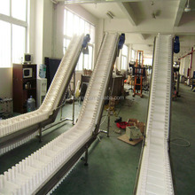 Inclining PVC Belts with Cleats Conveyor for Transfering Snack Food