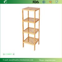 Bamboo Bathroom Shelf 4-Tier Multifunctional Storage Rack Shelving Unit