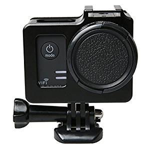 KDTD Universal Aluminum Alloy Protective Case with 40.5mm Lens Diameter & Lens Protective Cap for SJCAM SJ5000 & SJ5000X & SJ5000 Wifi Sport Action Camera(Black)