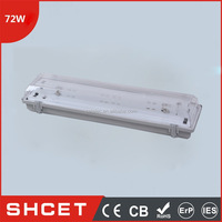 2*36W CET-236/B IP65 Outdoor Waterproof Lighting Fixture Of Ceiling With Ph Electronic Ballast PF 0.7 Straight Type