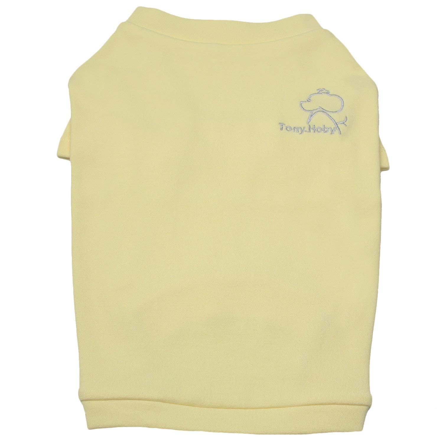 TONY HOBY Plain Dog Shirts Dog Tee Shirts Pet Summer Clothes Soft Cotton for Small Pet Dogs