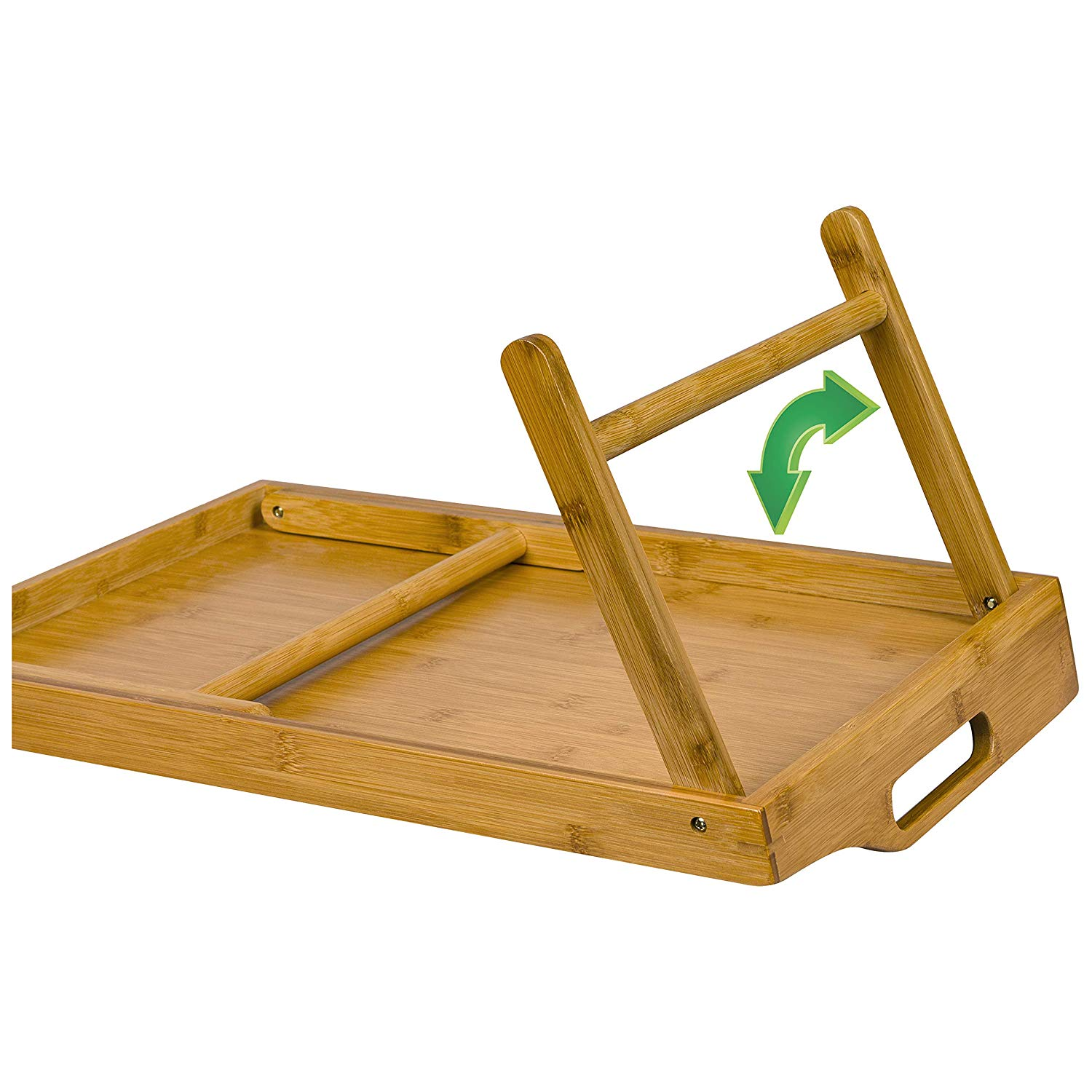 Natural Bamboo Serving Tray Set Bed Tray Breakfast Table With Legs Bamboo Tray Serving 5