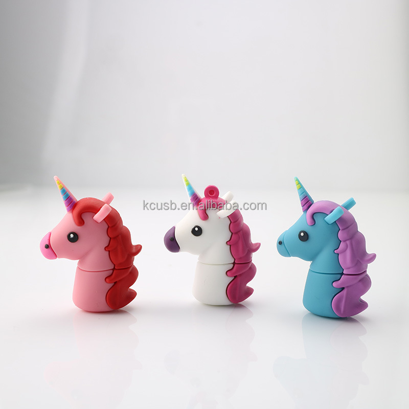 New style gift pendrive unicorn usb flash drive key 4gb 8gb wholesale
