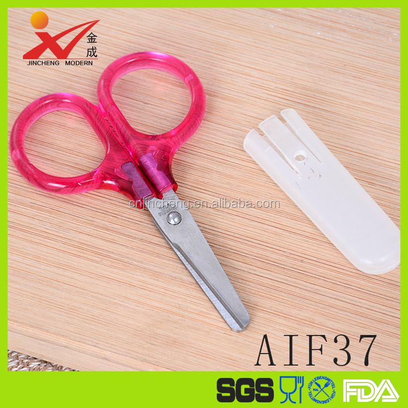 AIF37 Pink Student Paper Scissors High Quality For Craft