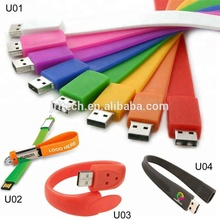 Eco-friendly Custom Silicone printed usb bracelet cover,cute animal shape usb flash drive silicone bracelet case