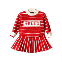 Factory supply wholesale toddler girls sets clothes kids new born sweet baby clothes sets with superior quality