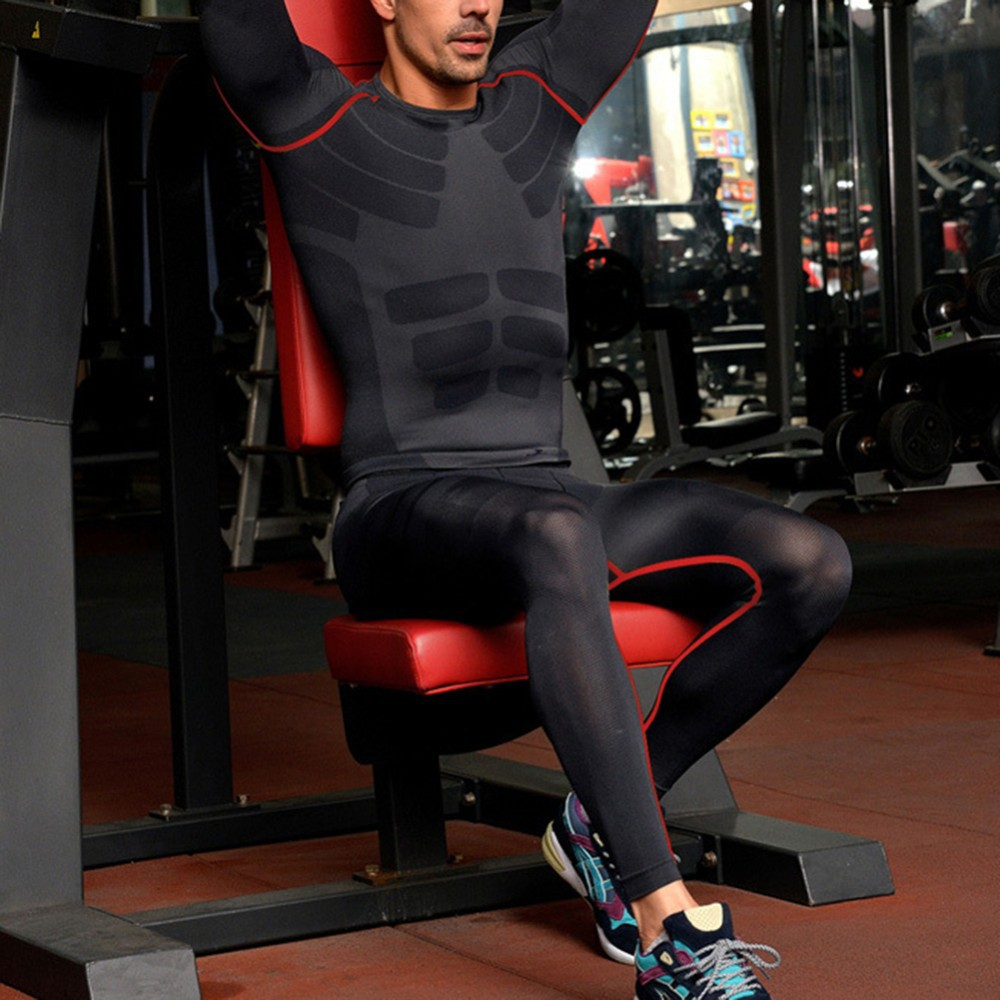 af4563eb895 Men's Clothing Mens Compression Base Layers Skin Sports Pants Gym Training  Tight Slim Trousers