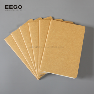 wholesale plain recycled brown paper notebook