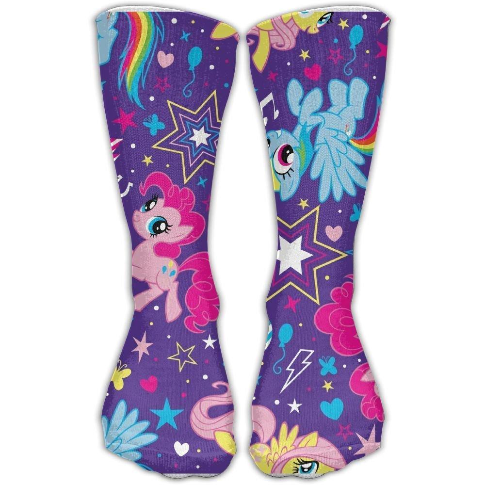 40e1b1ea27d Get Quotations · My Little Rainbow Unicorn Unisex Sports Socks Tube Socks  Knee High Compression Sports Athletic Socks Tube