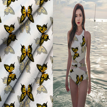 2018 Most Popular Cheap Knitting Digital Printed 95% Polyester 5% Elastane Swimwear Fabric for Bikini Swim Apparel