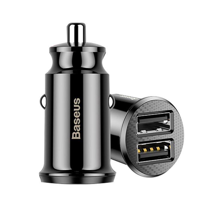 Baseus Graan Mini Dual Usb 5 v 3.1A Snelle Lading Mini Usb Car Charger