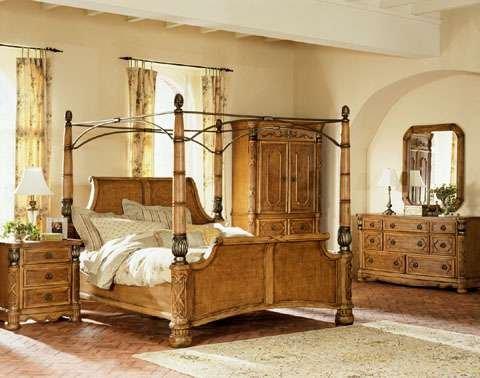 Exotic Pecan Queen Canopy Bedroom Set Buy Bedroom Set Product On Alibaba Com