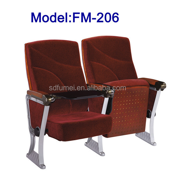 FM-206 Theater chair auditorium hall furniture with tablet