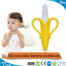 FDA approved banana brush teether /Factory Direct Wholesale Silicone Baby Banana Brush