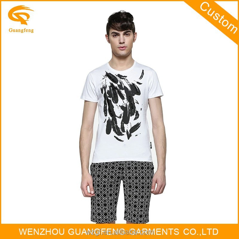 adults 100% cotton material wenzhou manufacture t-shirt for men