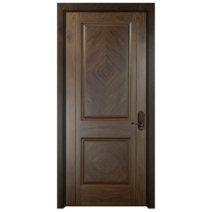 Manufacture Price Apartment Modern Walnut Interior Wooden Bedroom Door Design