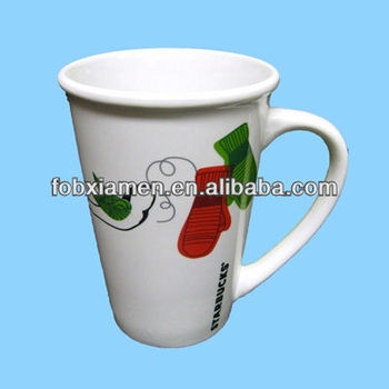 Holiday White Glass Coffee Mug Wholesale Buy Glass