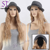 2017 New Arrival Fashion Synthetic Wig Style Ombre Blonde Hair Wig With Hat