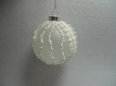 Wholesale Outer Decoration White Hanging Christmas Ball