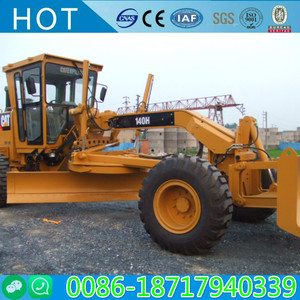 Wheel moving type Caterpillar 140H used condition Motor Grader for sale