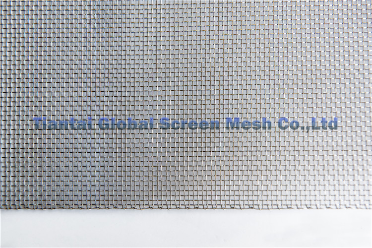 2.25M 2.5M 3M Wide Plain Weave Silvery Stainless Steel Wire Mesh For Filter Mesh