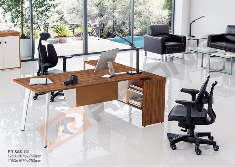 Muebles de oficina moderna 1 8 m nogal madera de oficina for Mesa oficina moderna