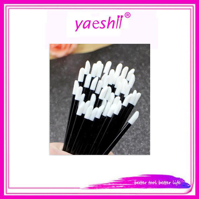 Yaeshii Cheap Plastic Handle Disposable Lip Gloss Wand Brushes For Makeup 100 Per Bag