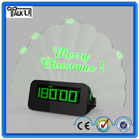 Children desk thermometer clock/multiple time zone clock/alarm clock with message board