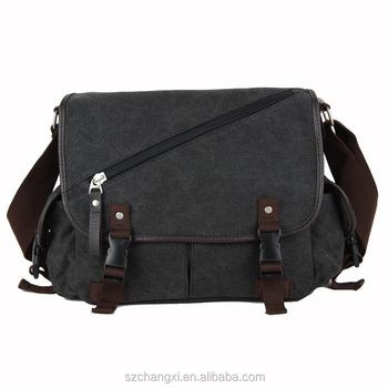 fda5b4e84d Vintage Canvas Satchel Messenger Laptop Shoulder Crossbody Sling Bag ...