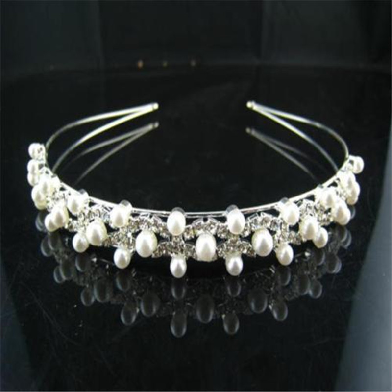 Silver Bridal Veil Tiara Diamante Rhinestone Crown Wedding Party Prom <strong>Headband</strong>