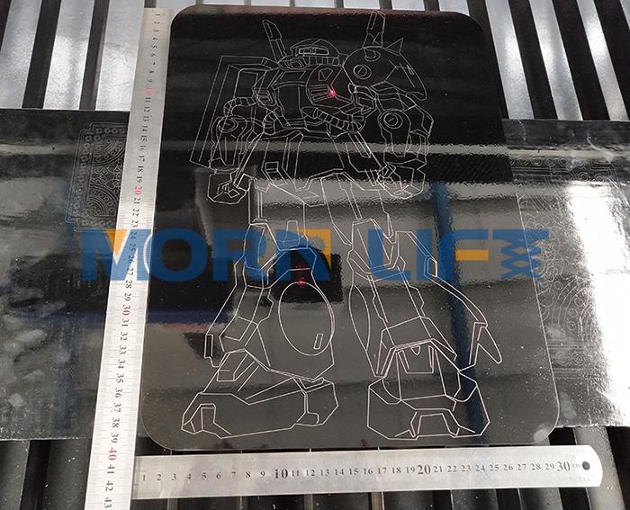 MORN big size metal sheet cylinder tube fiber laser marking engraving machine
