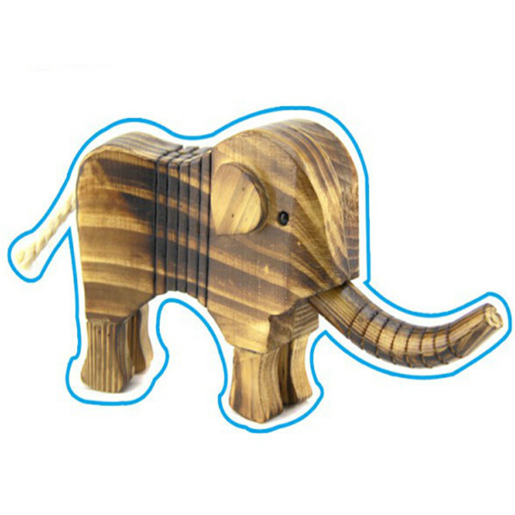 hot new fashion elephant sculptures wooden animal toys