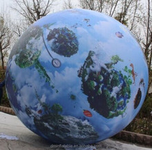 2014 4m inflatable giant globe balloon ball