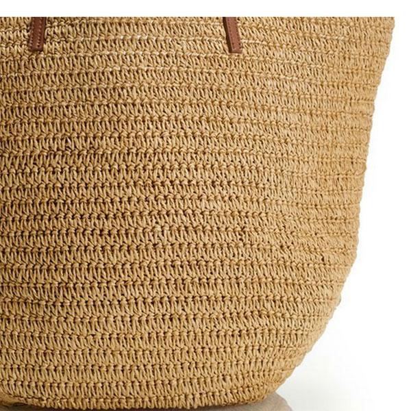 Large Straw Beach Bag Lady Fashion Straw Bag Straw Shopping Bag ...