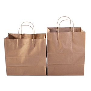 Hot sale low price Reusable Custom Logo printing New products brown kraft paper bag