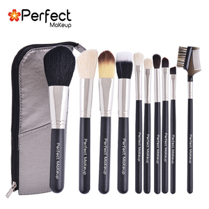 10pcs blcck makeup brushes sets cheapest air brush makeup cosmetic