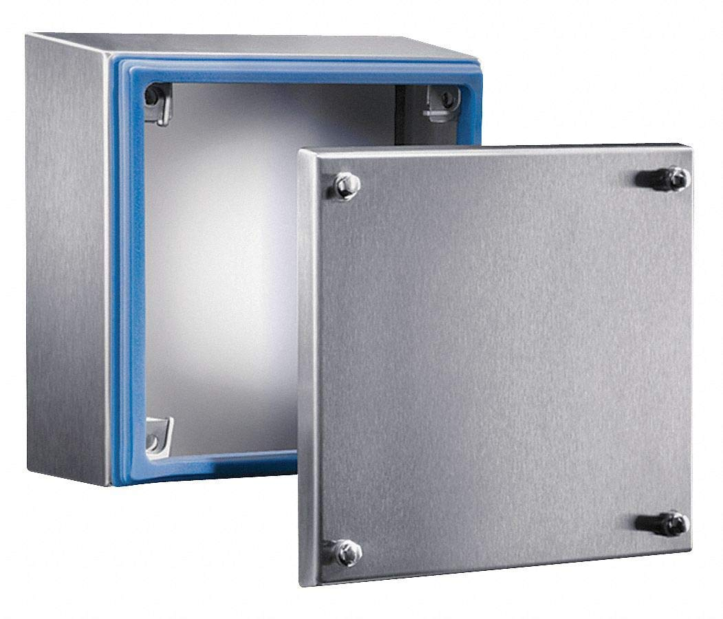 "6""H x 6""W x 3""D Metallic Enclosure, Stainless Steel, Knockouts: No, Screws Closure Method"
