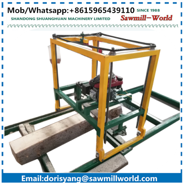 mini sawmill,mobile chain saw,petrol chain saw wood cutting machine with low price