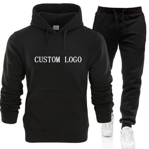 wholesale Custom printing logo blank plain pullover street style oversized xxxxl pants Hoodies sweatshirts set for men