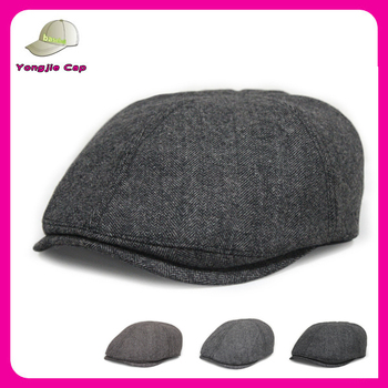 Tweed Gatsby Newsboy Cap Men Ivy Hat Wool Golf Driving Flat Cabbie ... b22dfaceb1d