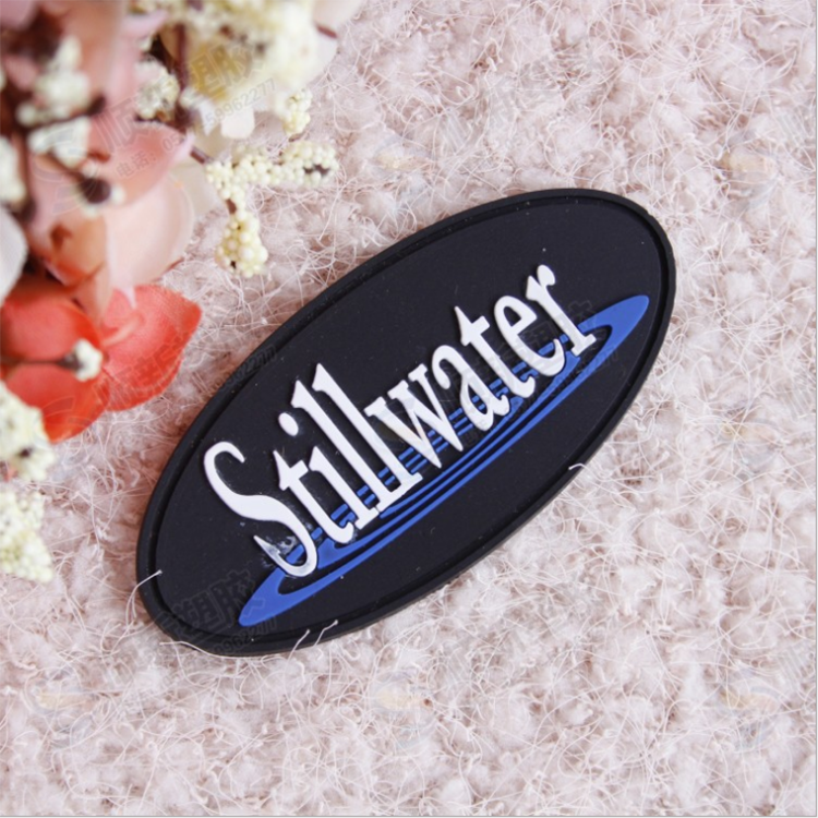 High Quality Waterproof Customized Design Silicon Rubber Logo Sticker