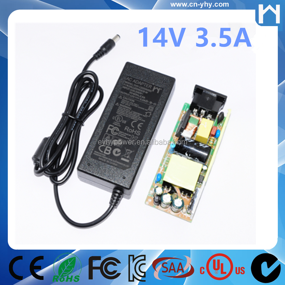 AC to DC 14Volt 3.5Amp Power Supply Adapter Converter Regulator 14V 3.5A Power Adapter
