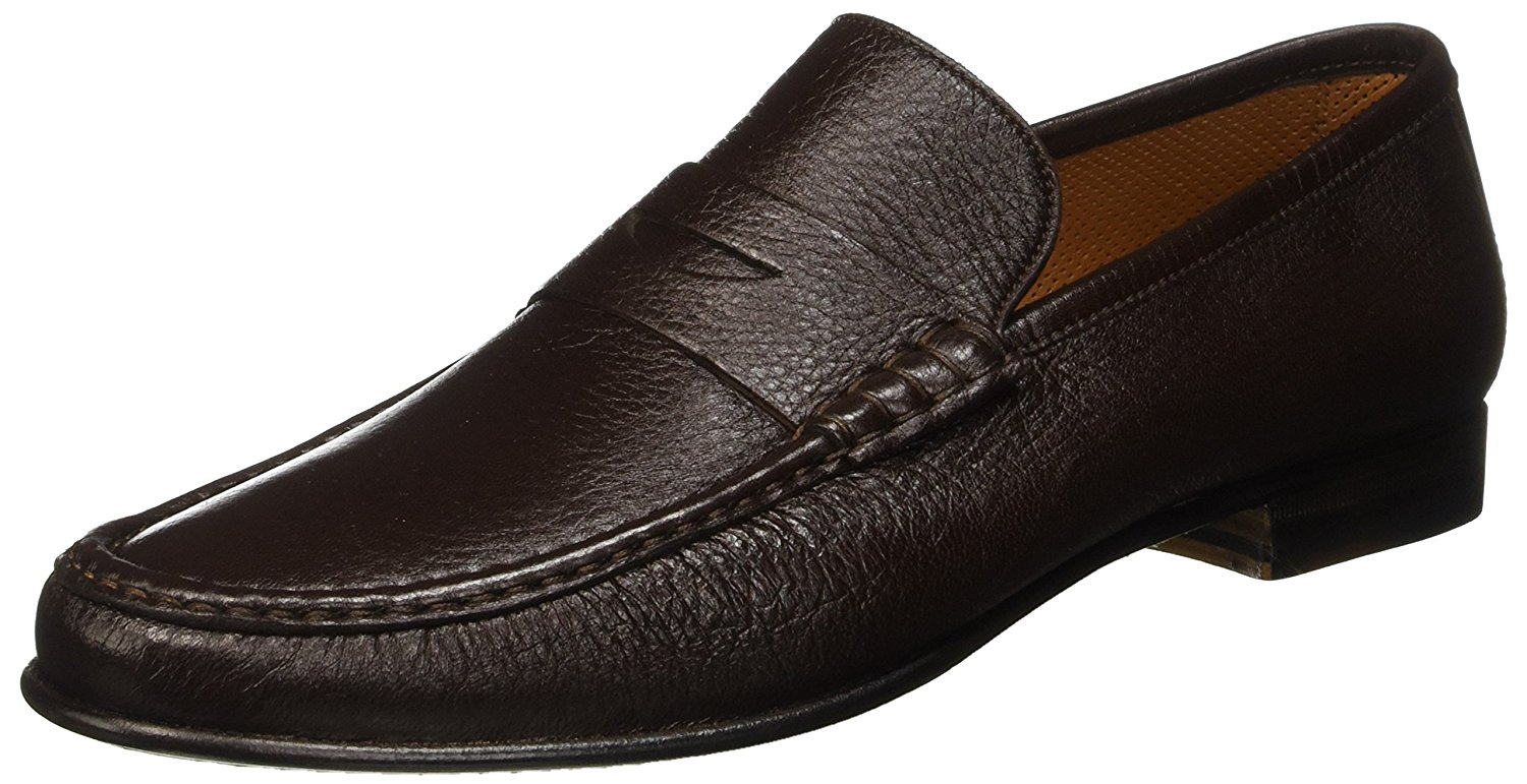 9ba22038a65 Get Quotations · Stemar Men s Leather Sorrento Loafers Dark Brown