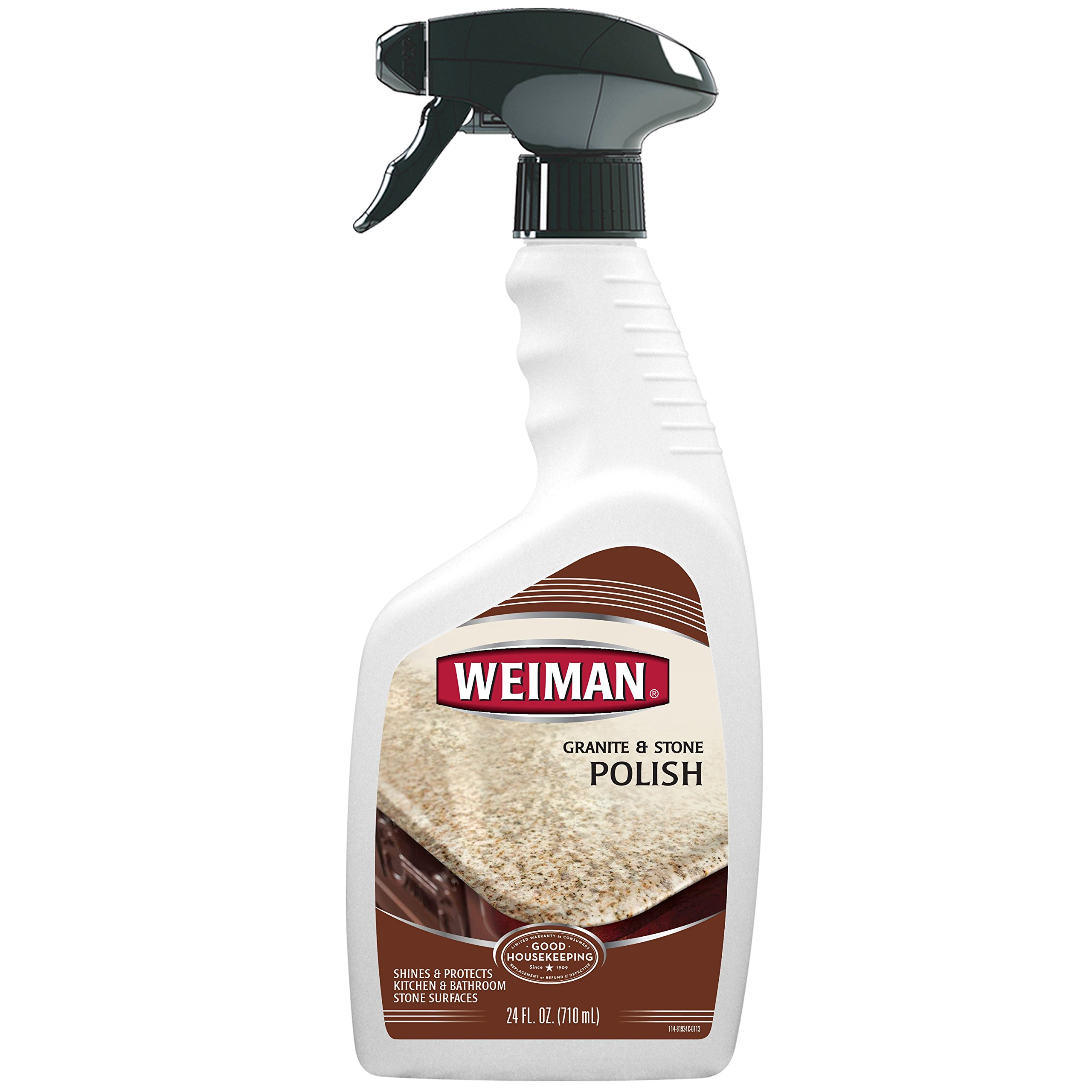 Weiman Granite & Stone Polish - Streak-Free, pH Neutral Formula for Daily Use on Interior and Exterior Natural Stone - 24 Fl. Oz.