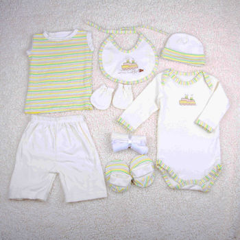 Baby 9pcs Clothing Gift Set Box Baby Wear Cotton Newborn Baby