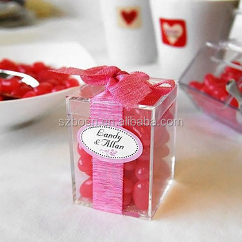 High Transparent Mini Acrylic Favor Box
