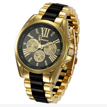 2d666423327c De moda de acero inoxidable reloj de Ginebra marca de moda reloj de Ginebra